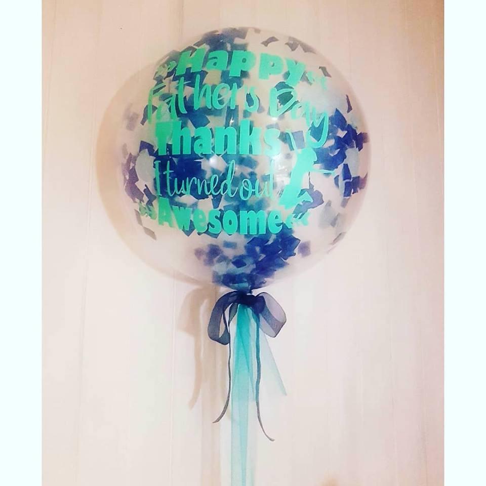 Bubble Balloon, Deco Balloon, Personalised Balloon