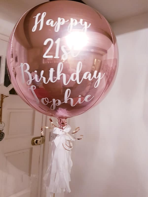 Personalised Orbz Balloon, Orbz Balloon, Personalised Orbz